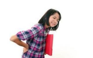 У ребенка болит спина в области поясницы