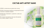 Анти артрит нано состав
